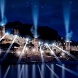 Light show to the walls of TOSSA DE MAR