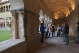 Cloister of the Monastery. Learn the stories behind the capitals