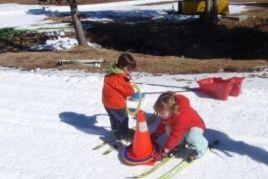 Esquiada familiar