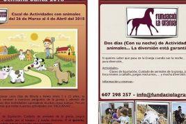 Setmana Santa 2018 Casal i colònies amb animals