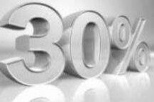 Oferta fins a 30% venda anticipada