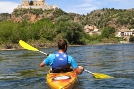 Kayaking down the Ebro River