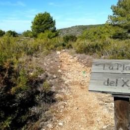Route à travers la Plana de Xim à Roda de Berá