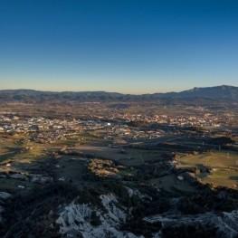 Gurb's Cross Hill from Sant Andreu de Gurb